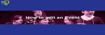 How to edit an Event