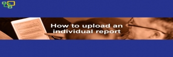 How to upload an individual report
