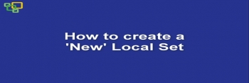How to create a 'New' Local set