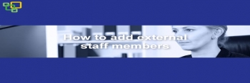 How to add external staff members